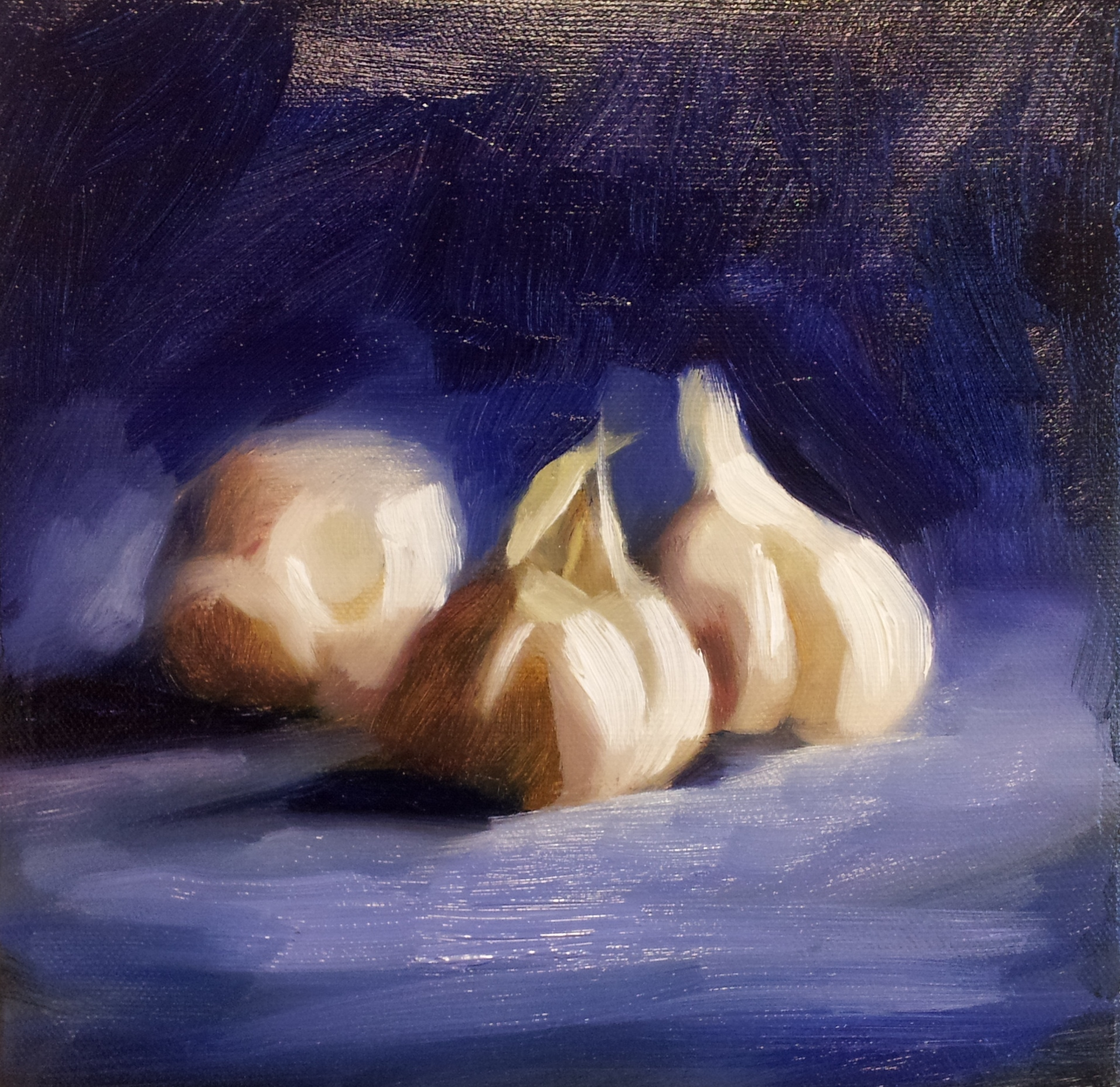 GARLIC ON BLUE (sold)