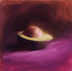 AVOCADO ON PURPLE (sold)