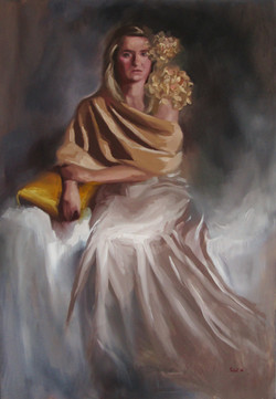 Girl with the golden pillow