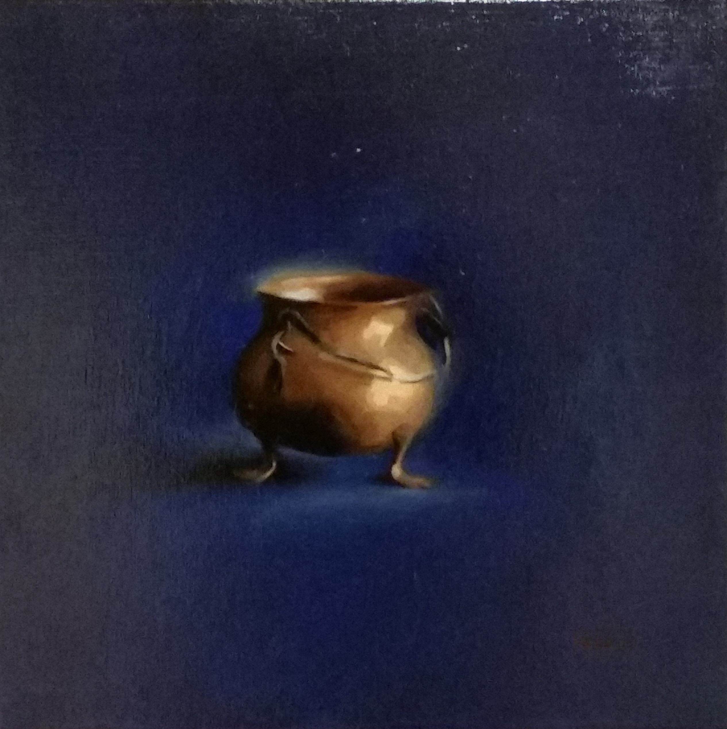 COPPER ON ULTRAMARINE (sold)
