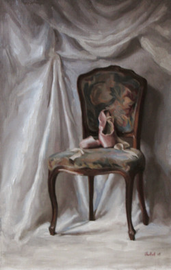 Interior with ballet slippers 55x85