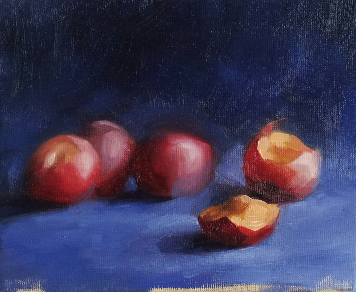 PLUMS WITH PRIMARY COLORS (sold)