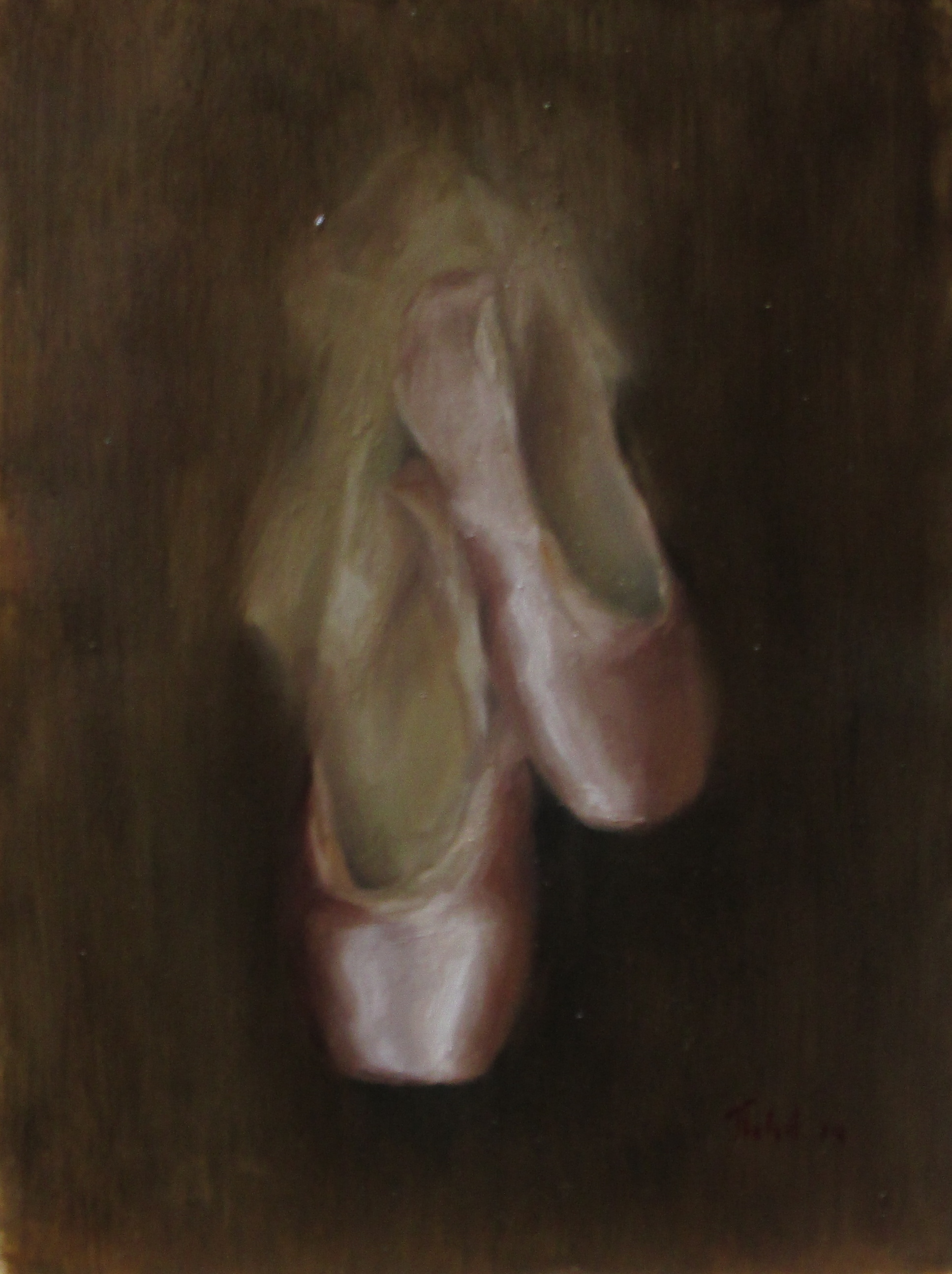 The ballet slippers