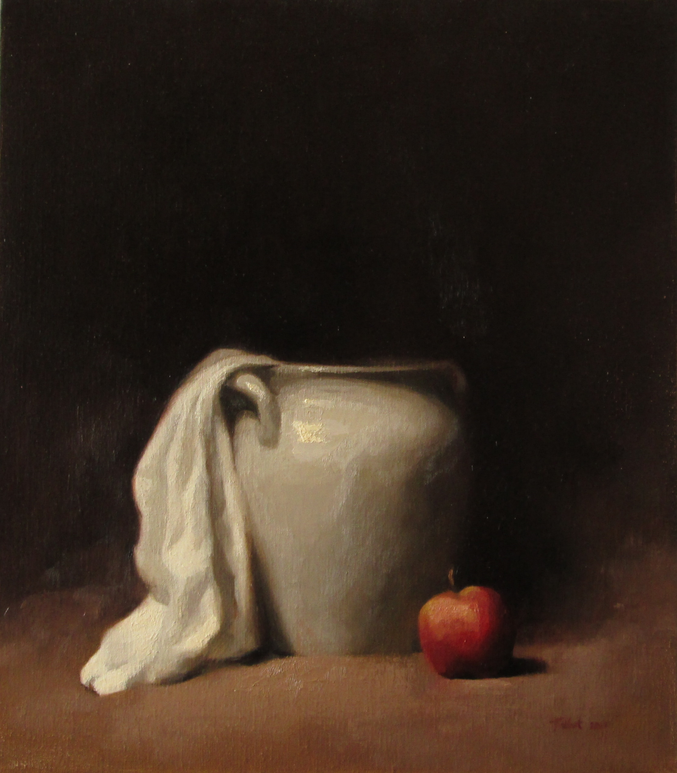 STILL LIFE WITH RED APPLE (sold)
