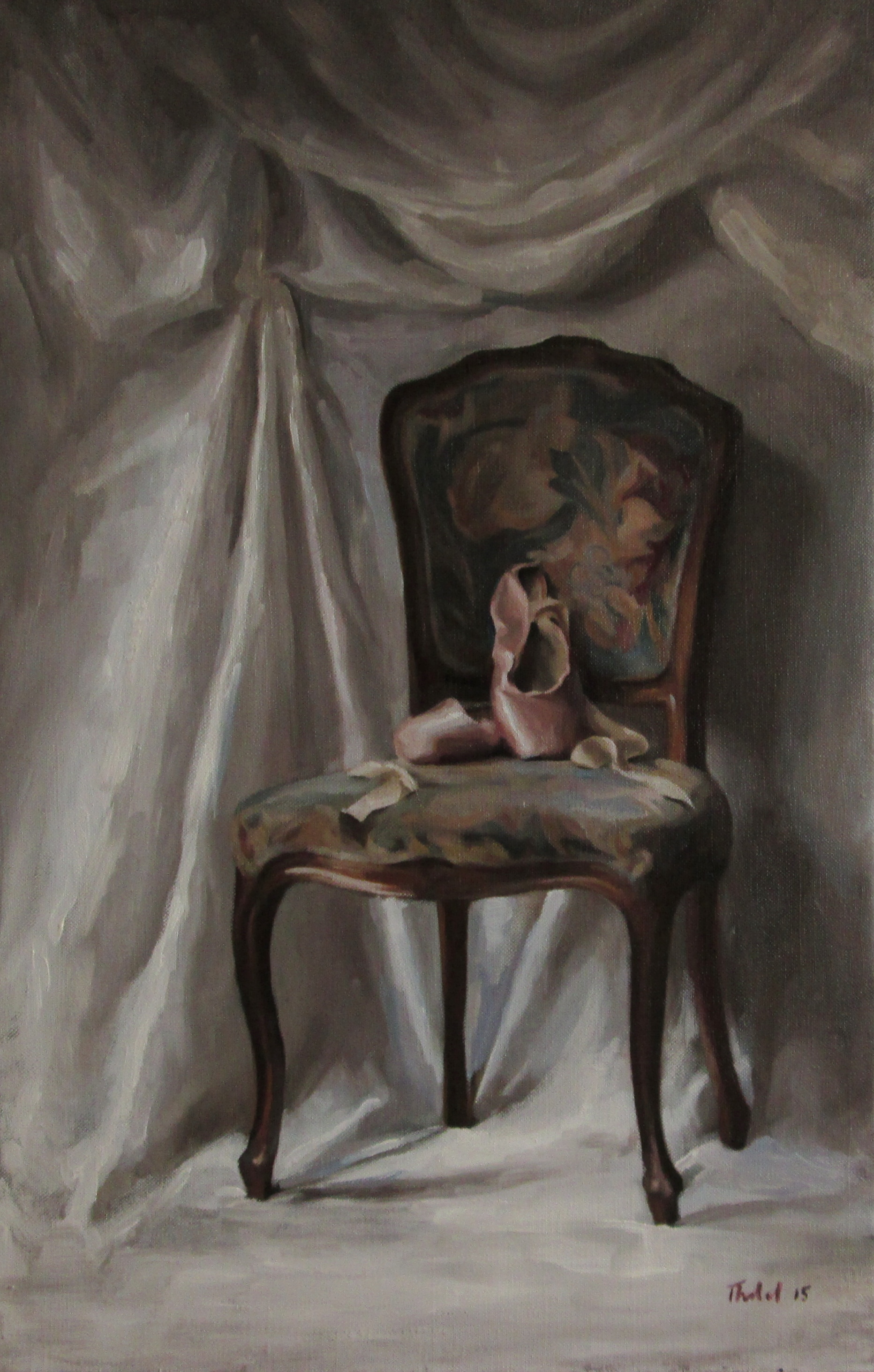 INTERIOR WITH BALLET SLIPPERS (sold)