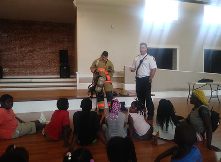 Tampa Firefighters visit THJCA Summer Program