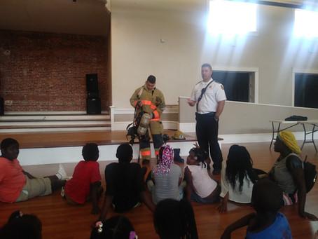 Tampa Firefighters visit THJCA Summer Program