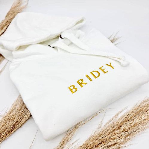 """""""BRIDEY"""" Embroidered Hoodie"""
