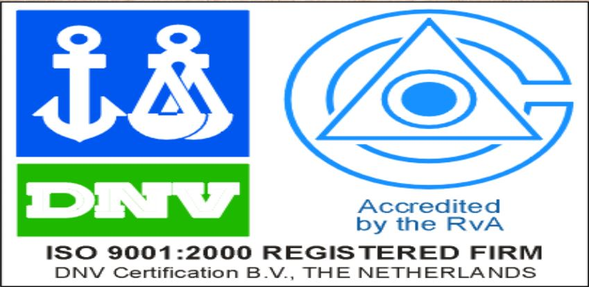 ISO 9001: 2000 Registered Firm