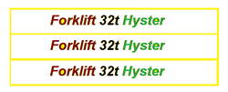 Forklift 32t Hyster