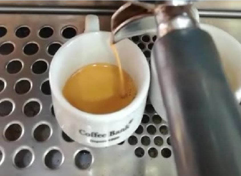 Fresh Espresso coffee cup