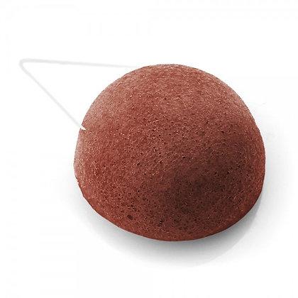 Eponge Konjac argile rouge