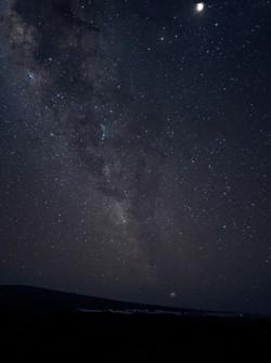 Jim Carlson Lunar Against Milky Way