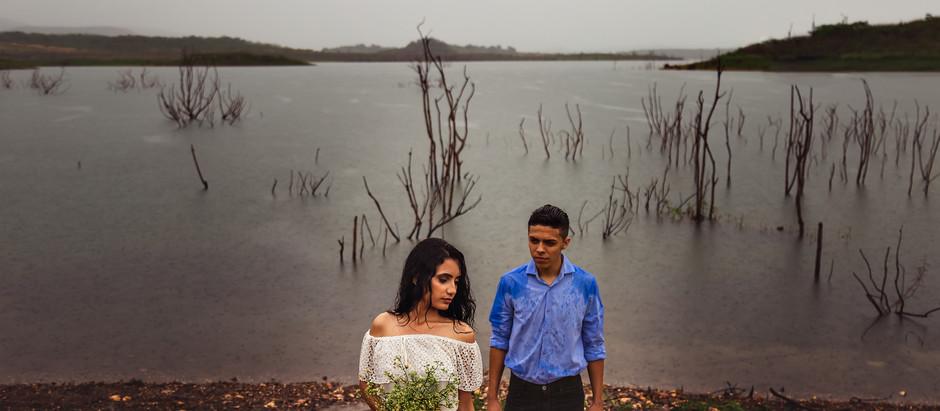 O dia que choveu (e muito) no ensaio de pré-casamento
