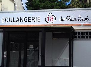 Bâche_Boulangerie du Pain Levé_Enseigne