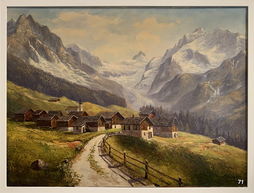 Zinal mit Zinalrothorn, Oel auf Leinwand, sign. C. Conrad