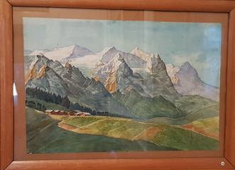 Alpenkette Mönch, Eiger usw.