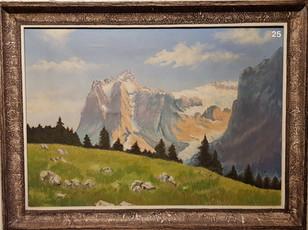 Das Wetterhorn, Oel Arthur Dätwyler