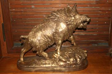 Bronze Wildschwein