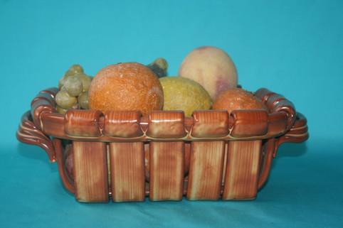 Porzellan Früchtekorb