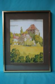 Schloss Heidegg Aquarell