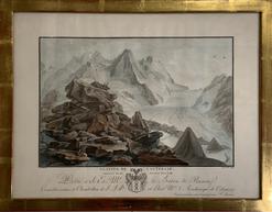 Glacier de Lautenaar, kol. Stich, sign. C. Wolff