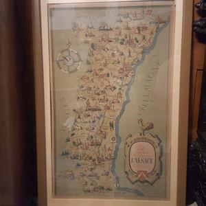 Karte L'Alsace