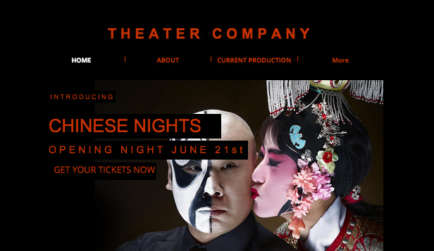 Events website templates – Theater Plays