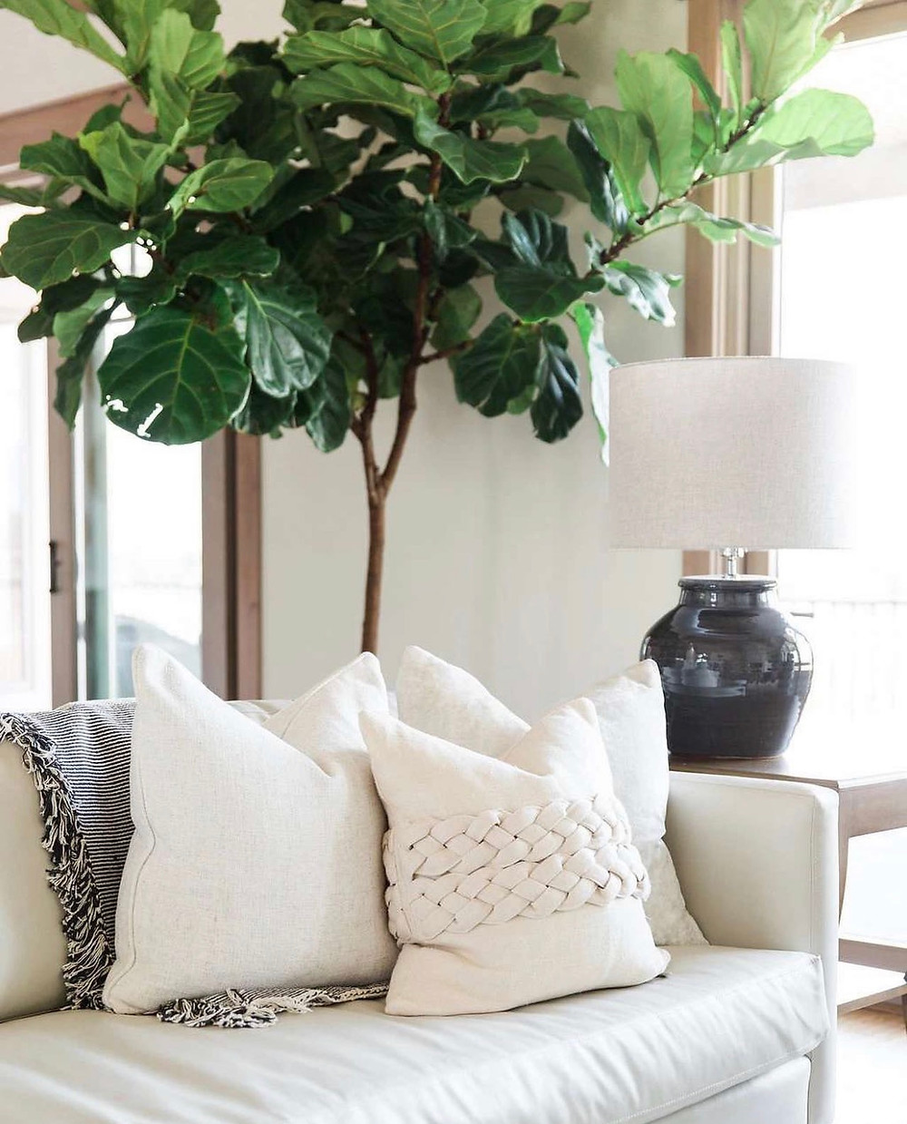 They do a great job with finishing touches. Here are some white linen pillows which are a great option for the Spring/Summer months.