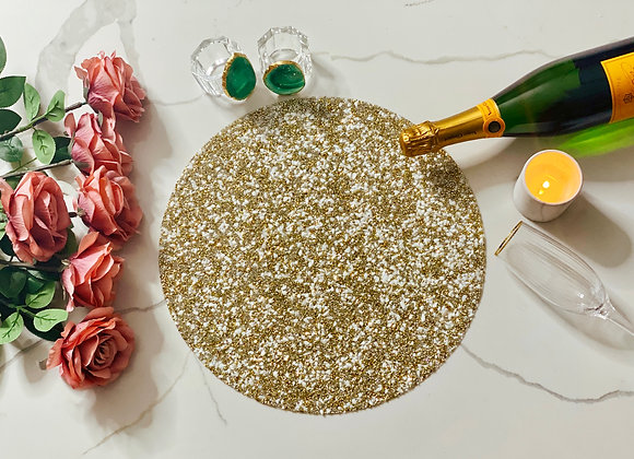 Audrey - Crushed pearl & gold placemat