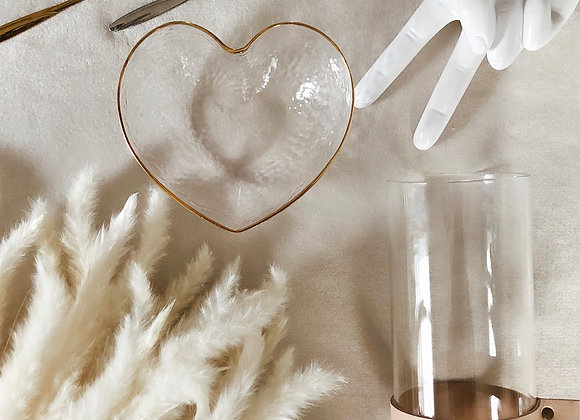 Love, Peace & Happiness - Glass bowl