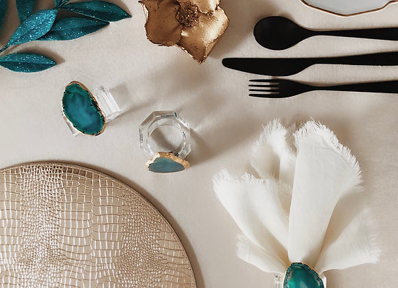 Be a Gem - Boxed Emerald Napkin Ring (Set of 6)