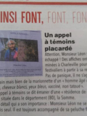 Article de presse dans l'Ardennais