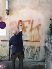 suppression graffitis