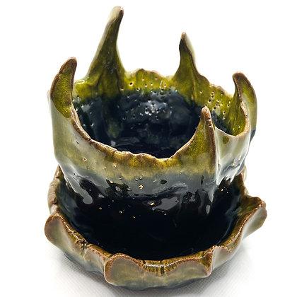 POD.003 - ceramic pot + saucer