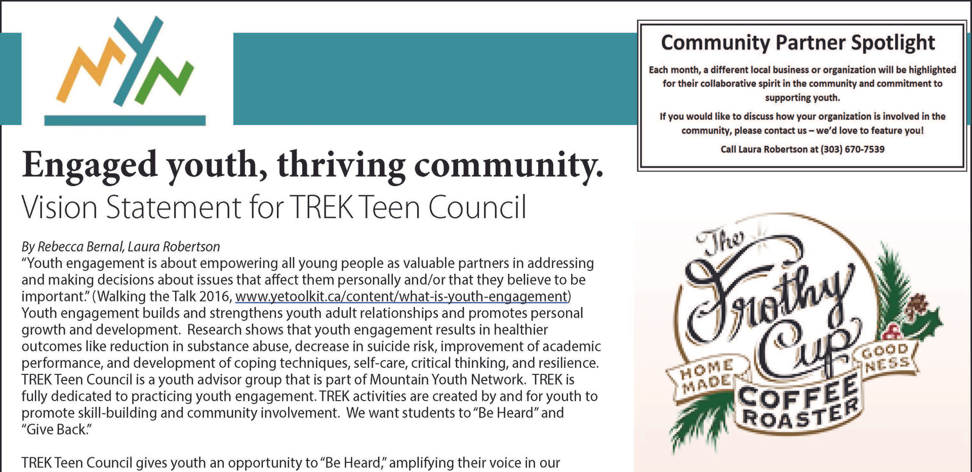 Courant 2020_02. Engaged Youth Thriving Community