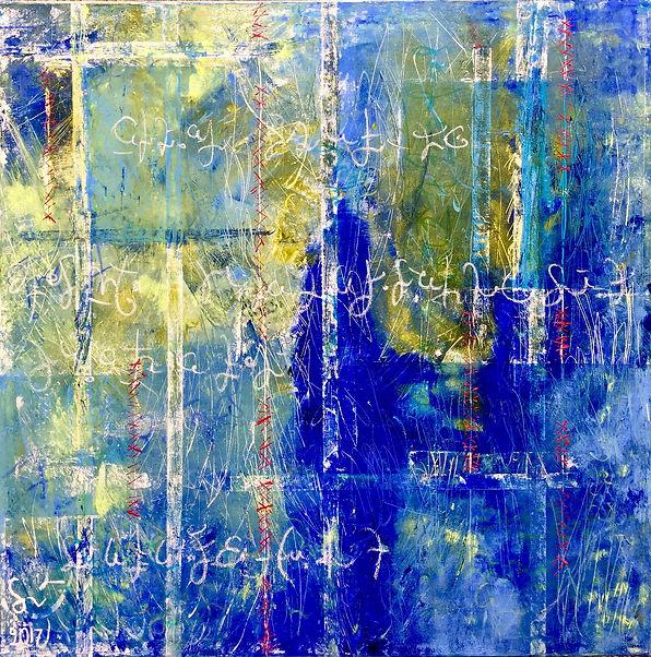 5 - Eau Dieu (huile, acrylique, craie, p
