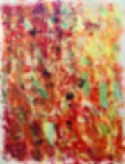 29 - Tout feu, tout flamme (acrylique, h