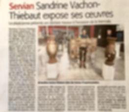 Article midi Libre - Biennale de Servian