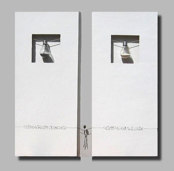 Entre deux mondes, 80x40 cm x 2