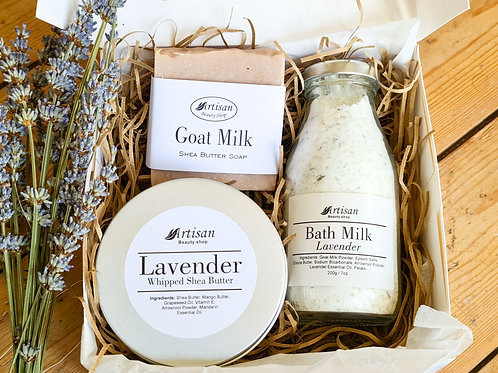 Bath and Body Gift Box Lavender