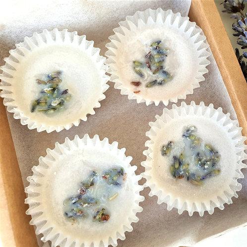 Lavender Bath Oil Melts 4pcs