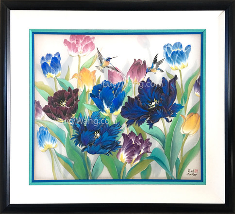 Tulips & Hummingbirds