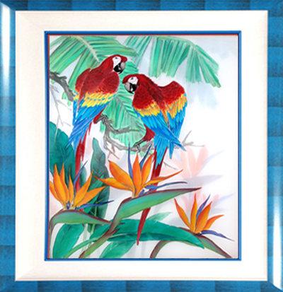 Macaws & Bird of Paradise