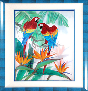 Macaws & Bird of Paradise