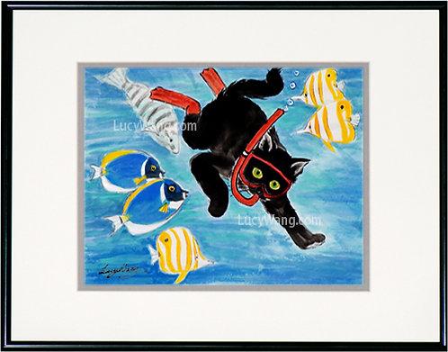 Snorkeling Cat #1