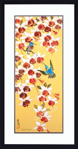 Fuchsia & Hummingbirds