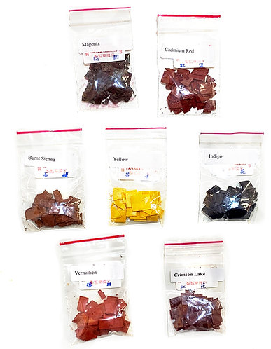 Chinese Watercolor Set of 7 Colors-Dry Chips