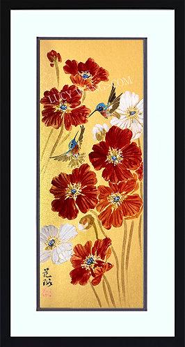 Poppy & Hummingbirds