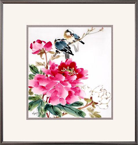 Peony & Birds
